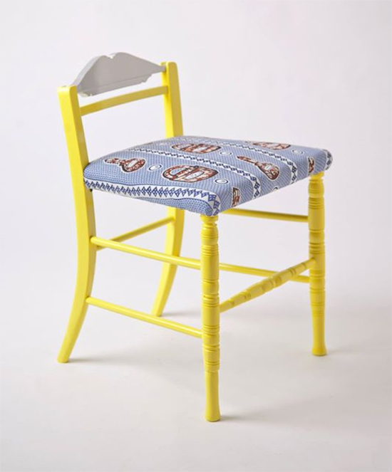 cadeira colorida, cadeira amarela, cadeira estofada, colorful furniture, Yinka Ilori