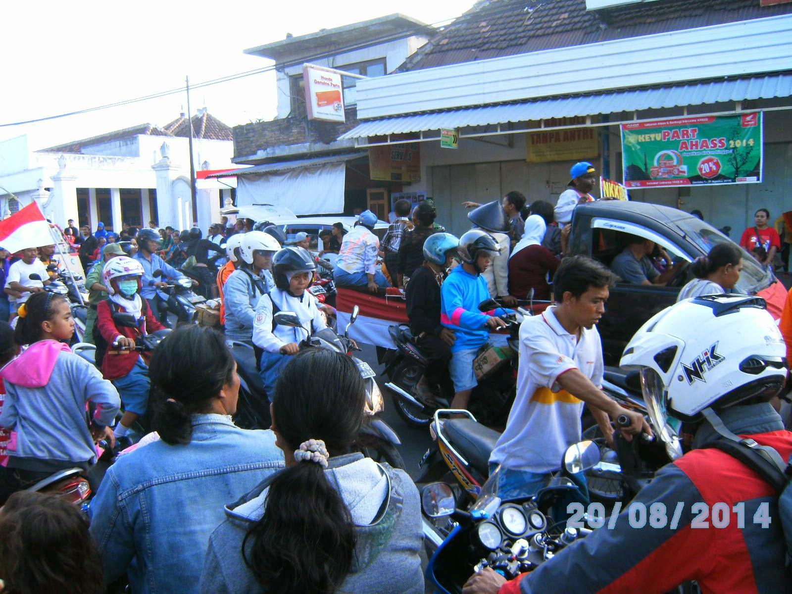 Pawai Karnaval di Pedan Klaten