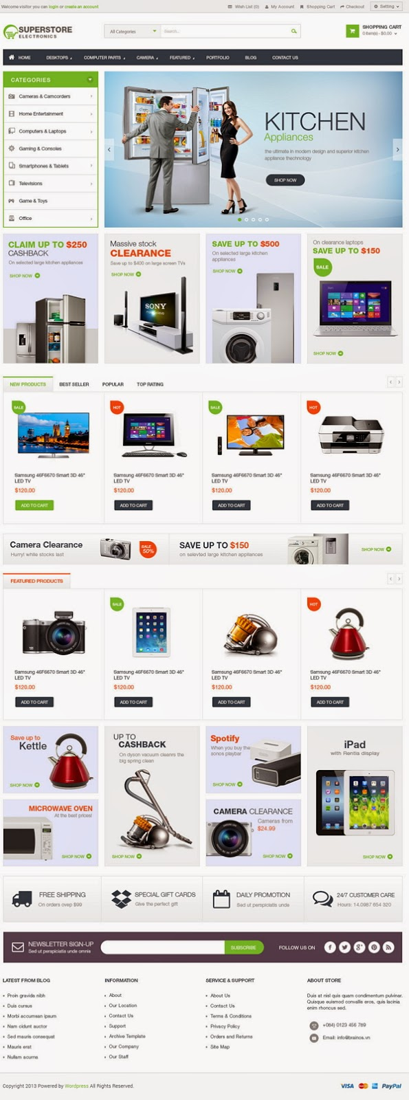themeforest wp ecommerce template