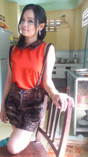 Srey Rath Kim Cute Wife On Facebook Sexy Red Dress Photo 1
