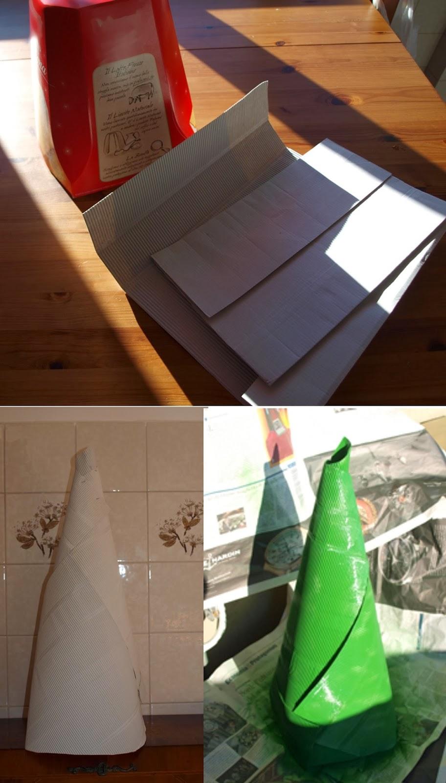 Simos e il suo laboratorio albero di natale di carta for Alberi di natale di carta