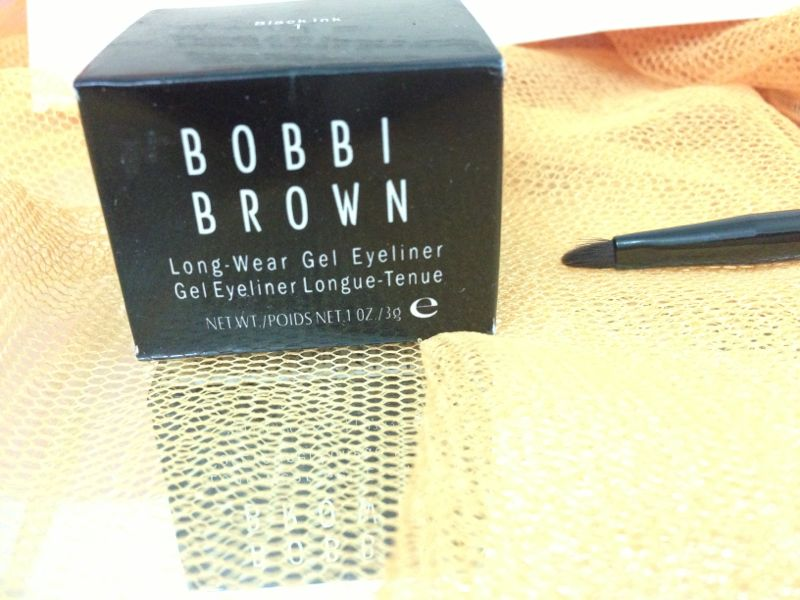 Bobbi Brown Long Wear Gel Eyeliner With Bobbi brown eyeliner brush and Mac Fake Eyelashes by Shimmer Ash.com