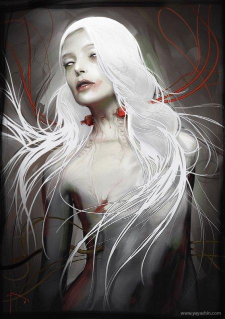 bruno wagner ilustração mulheres sombrias sensuais fantasia