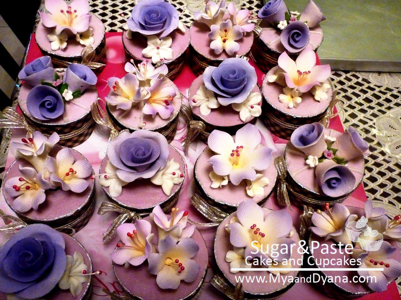 SugarPaste by MyaDyana Petal Cupcakes Purple Orchids