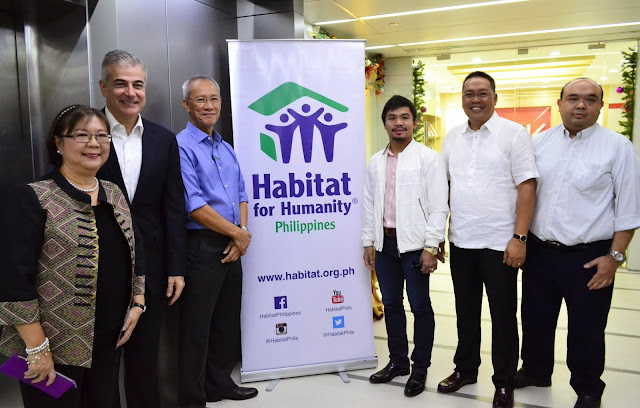 MANNY PACQUIAO RENEWS COMMITMENT WITH HABITAT FOR HUMANITY