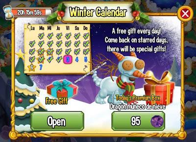 imagen del premium box del dragon muñeco de nieve