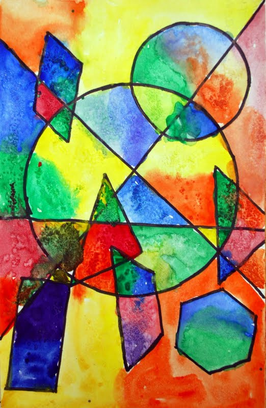 Shape Art : Adventures of an art teacher th grade shape paintings