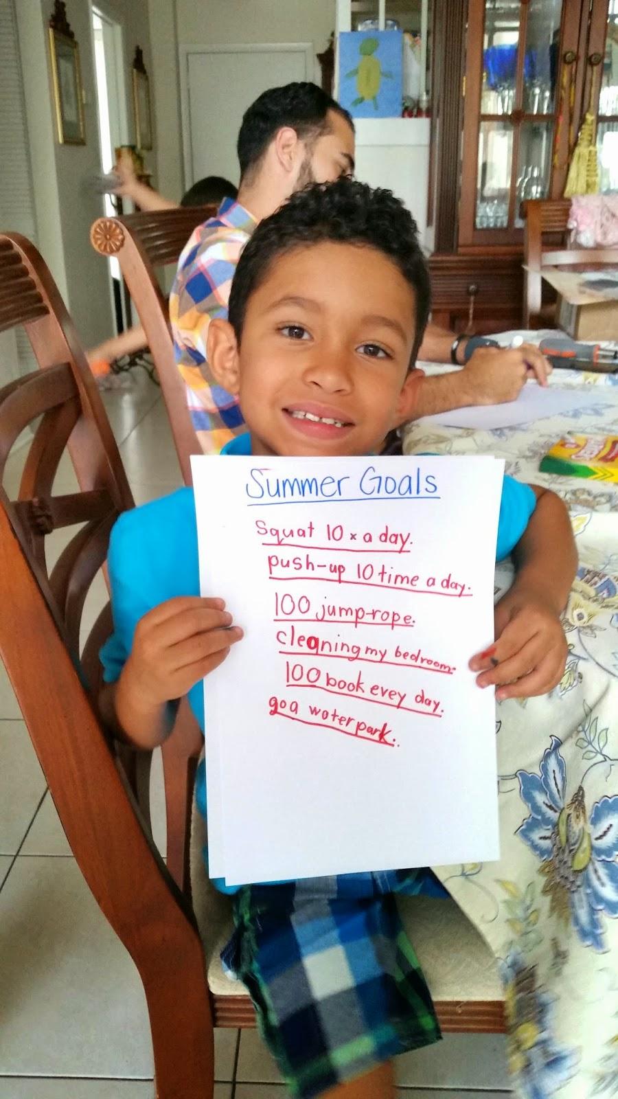 Adrian's 2014 Summer Goals