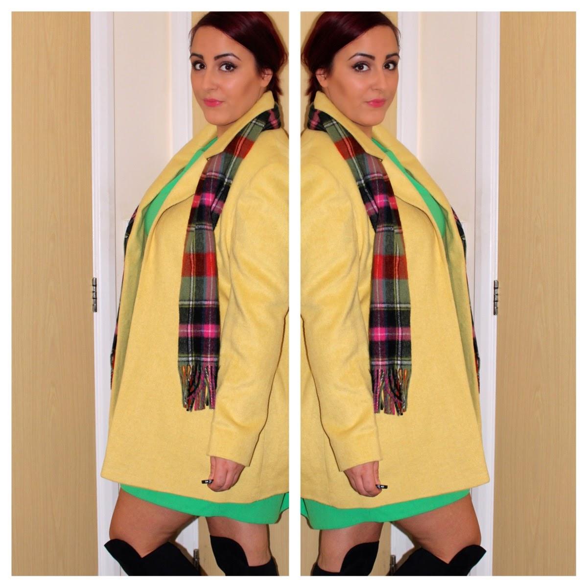 Yellow primark coat