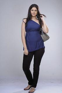 Deeksha Seth in Lovely Half Sleeves Blue T Shirt and Black Denim UHQ Pics Must see