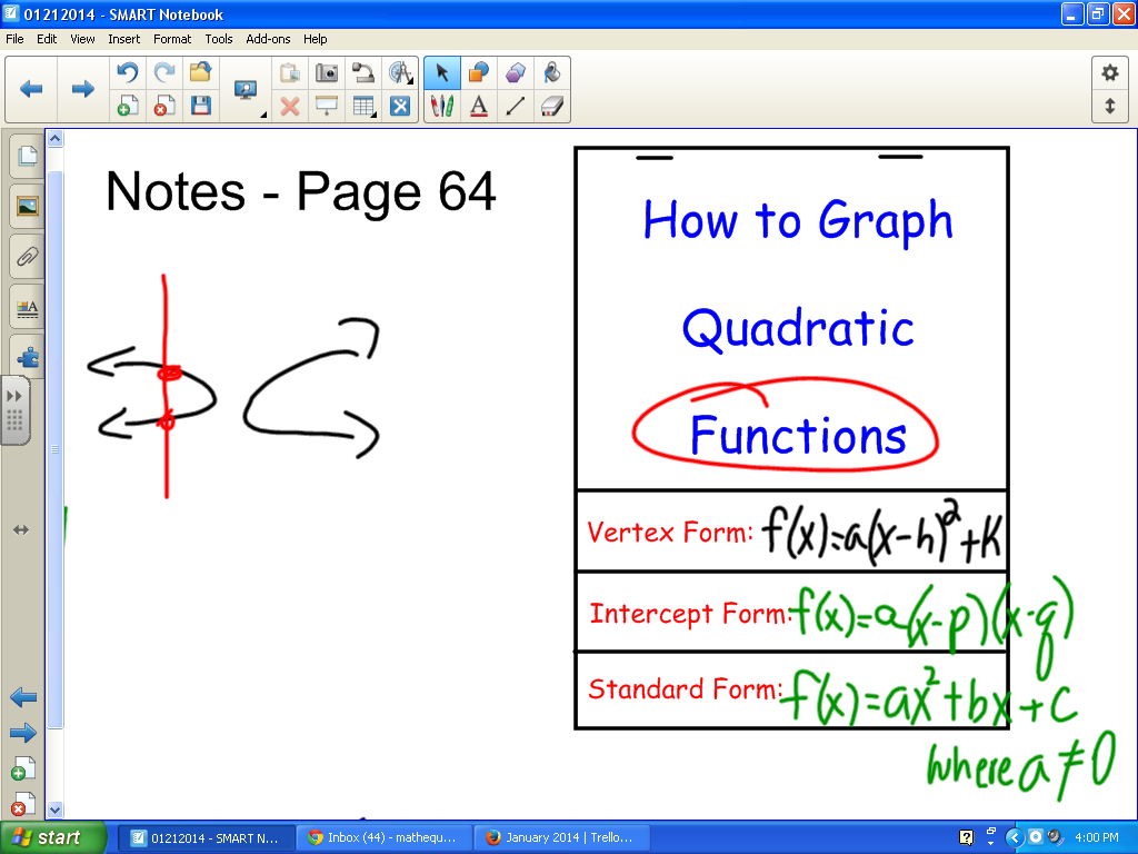 quadratic functions Page 1 of 2 51 graphing quadratic functions 249 graphing quadratic functions graphing a quadratic function a has the form y = ax2 + bx + c where a ≠ 0.