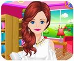 Cô nàng đáng yêu, chơi game trang điểm online