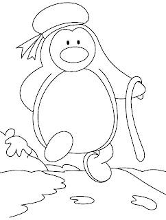 desenho de pinguim para pintar em tecido