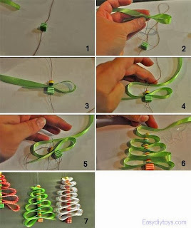 Making Crafts Christmas tree