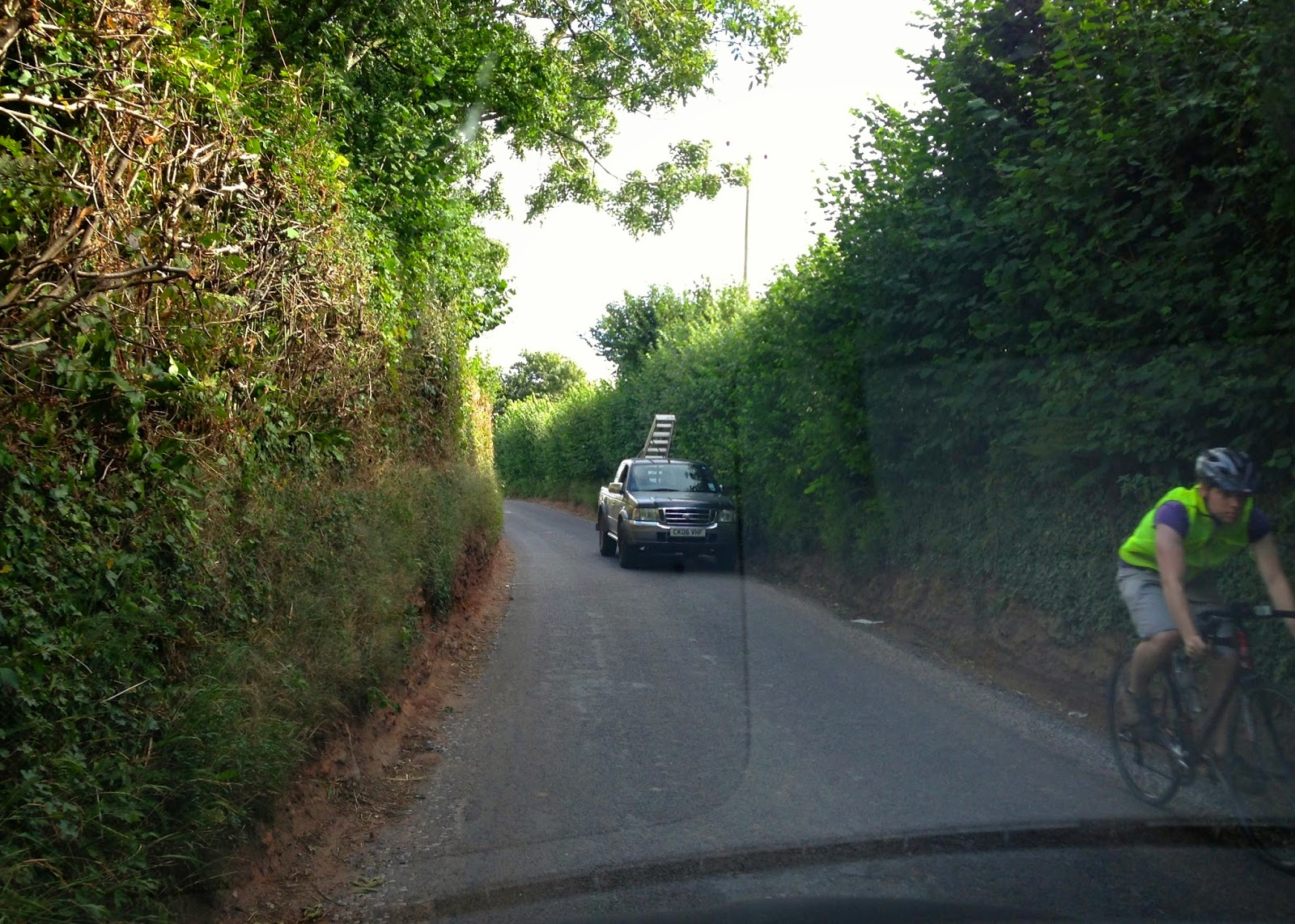 Narrow country roads in Somerset