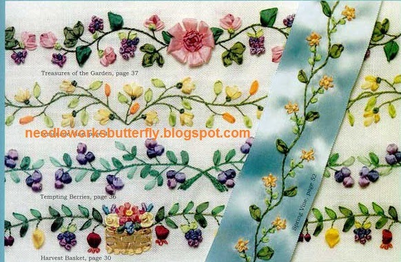 NeedleWorks Butterfly Ribbon Embroidery Flowers