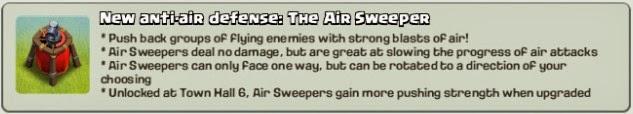 Kegunaan Senjata Air Sweeper Clash of Clans