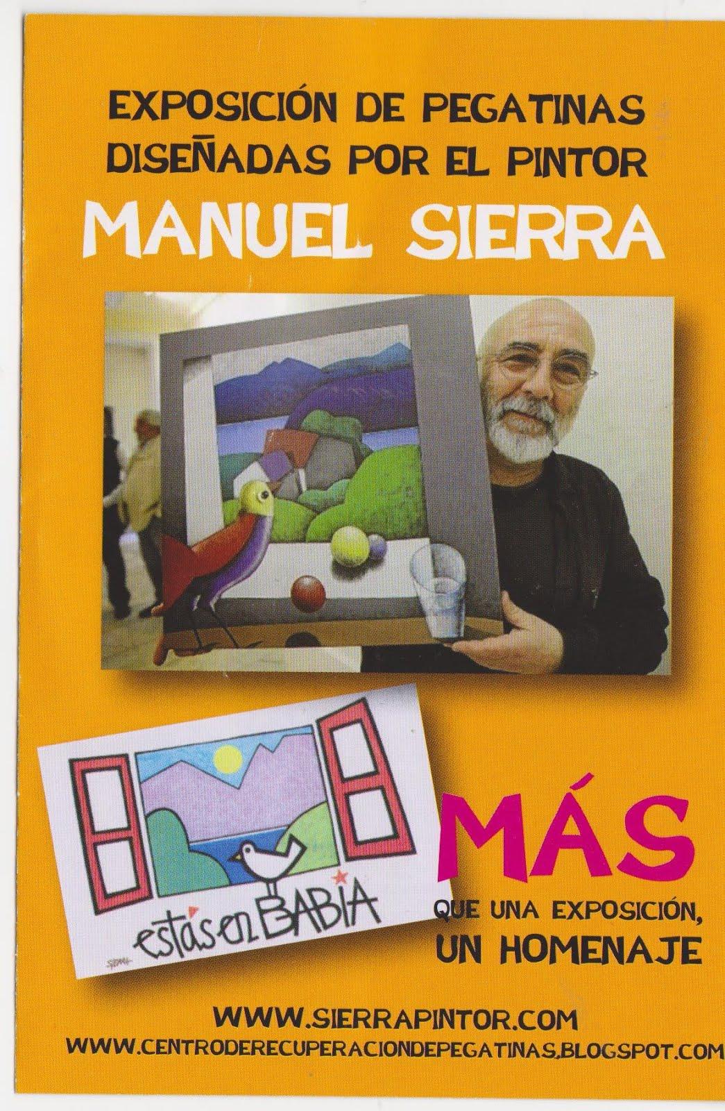 EXPOSICION MANUEL SIERRA EN PEGATINAS