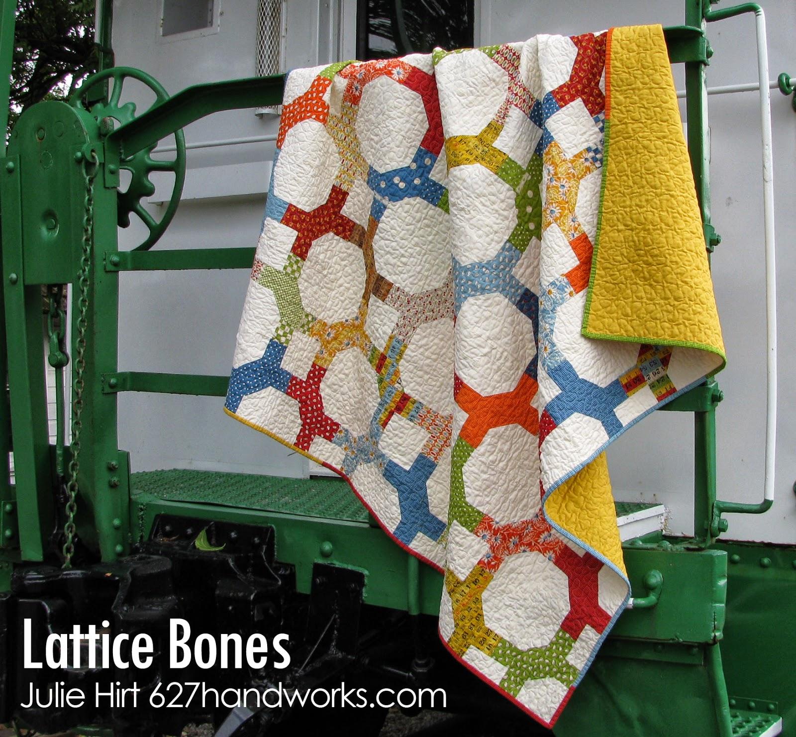 Lattice bones quilt 171 moda bake shop