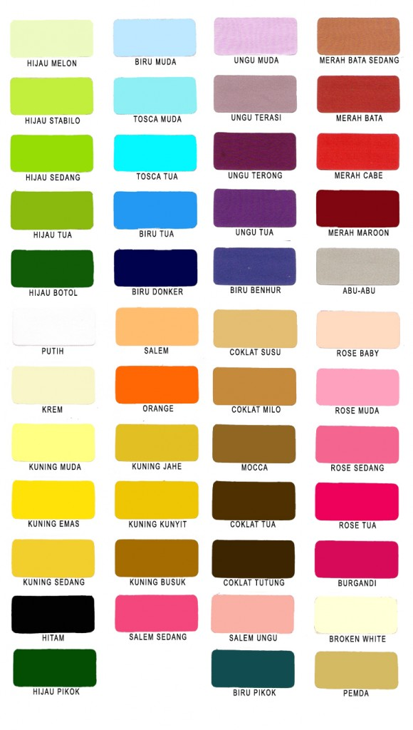 katalog warna kain katun