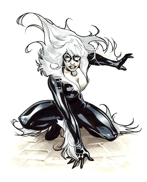 4black cat comic girl