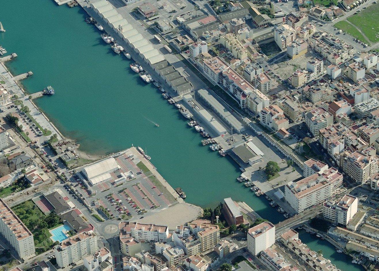 Vista aèria del port de Gandia