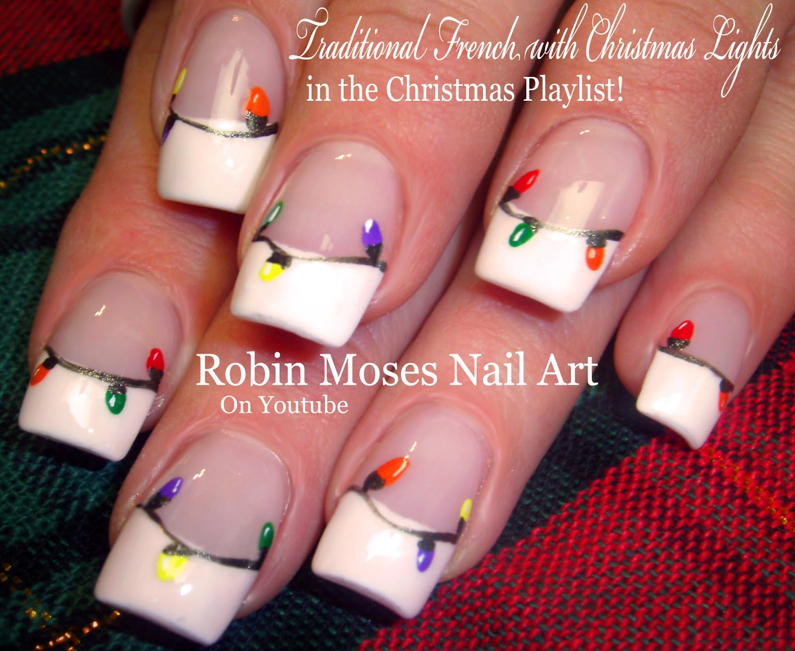 Easy Christmas Lights Nail Art Design Tutorial Nails Xmas Ideas 2017