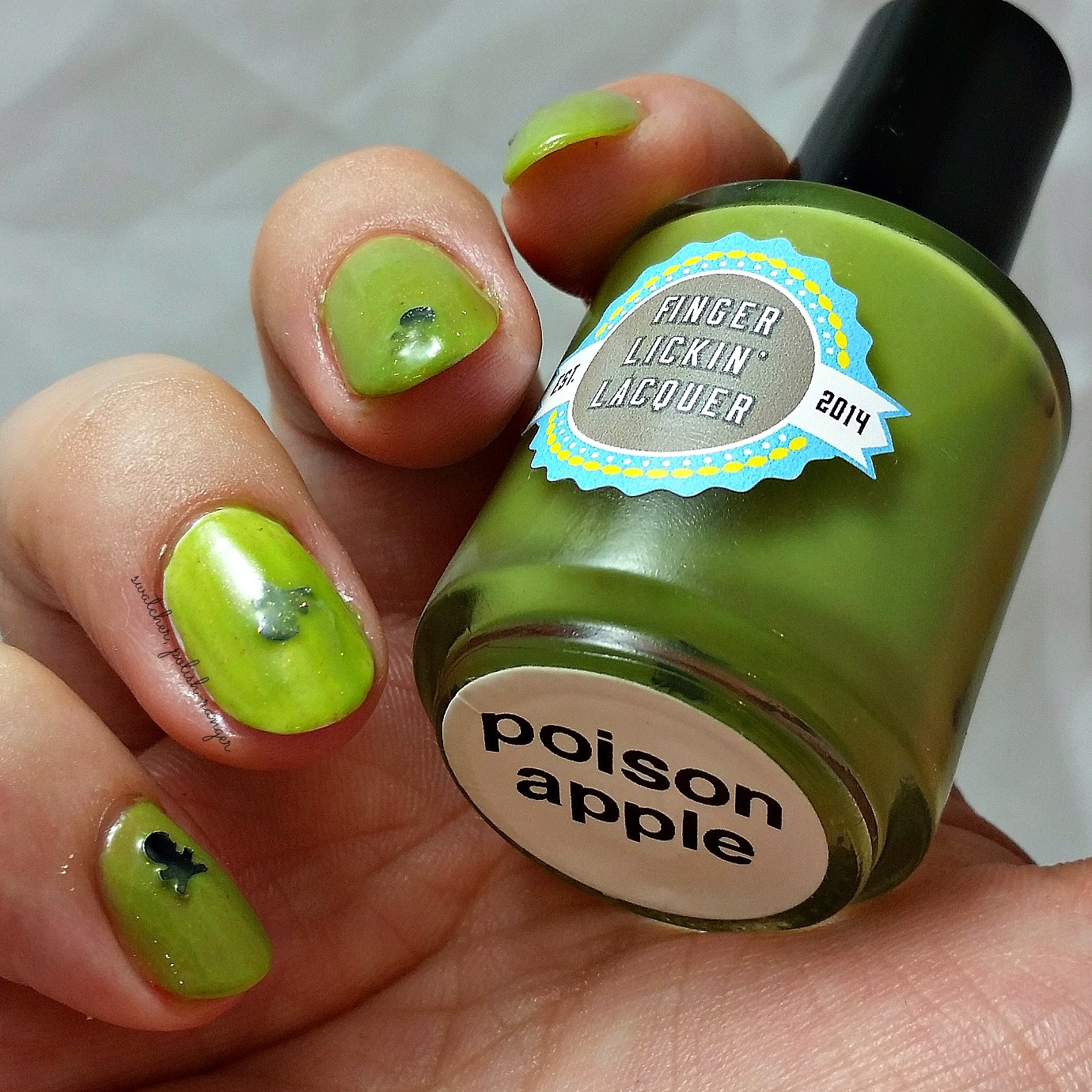 swatcher, polish-ranger | Finger Lickin Lacquer Poison Apple swatch