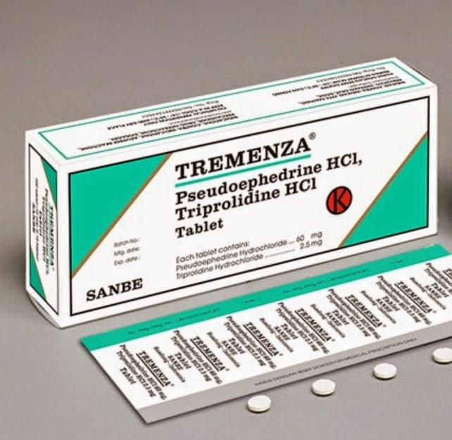 TREMENZA Tablet, Sirup (Pseudoephedrine HCl, Triprolidine HCl)