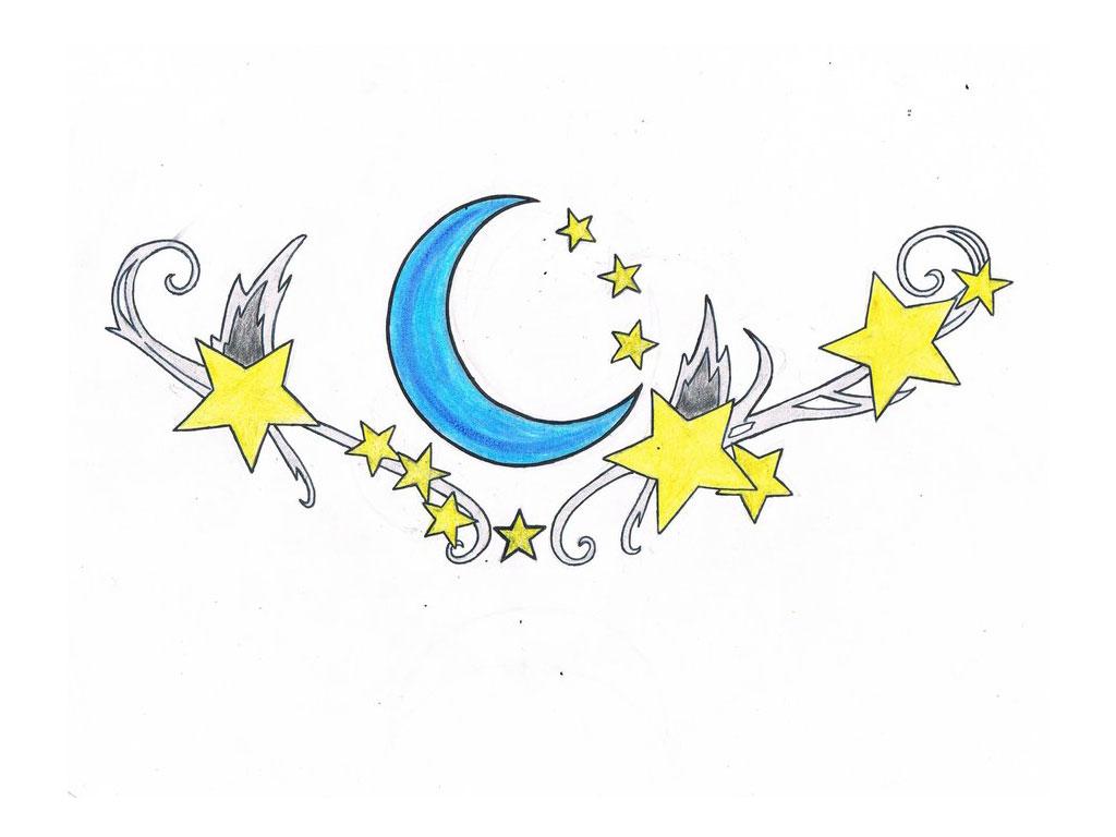 11 Great Moon Tattoo designs | Tattoo Lawas