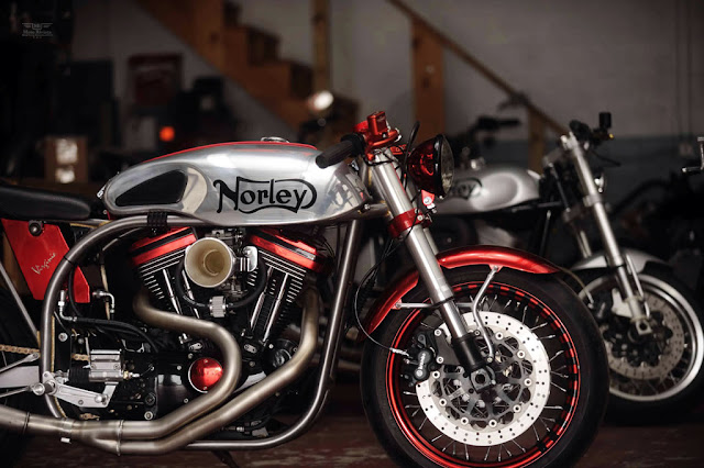 Norley Cafe Racer, norley cafe racer for sale, cafe racer blog, norley cafe racer engine, norley kit, norley motorcycle, harley cafe racer, norley motorcycle for sale, buell cafe racer
