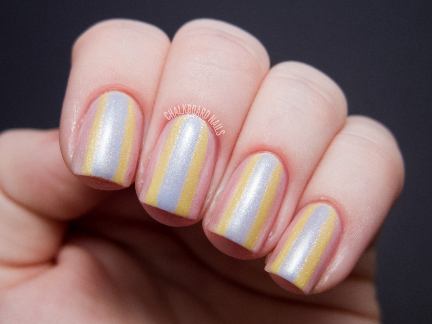 Springtime Stacked Stripes - Zoya Lovely Nail Art | Chalkboard Nails ...