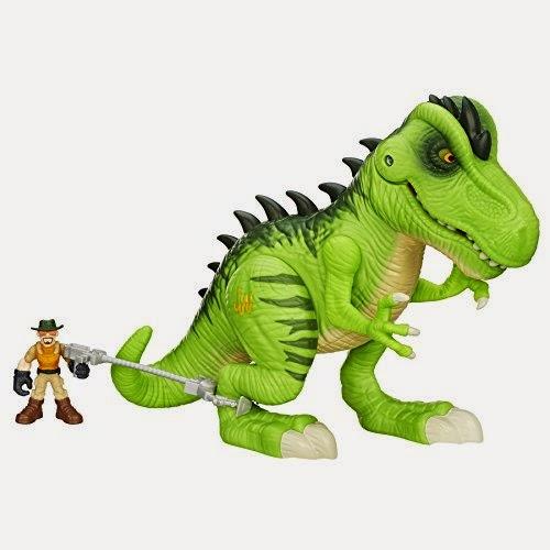 JUGUETES - Playskool Heroes : JURASSIC WORLD  T-Rex | Tyrannosaurus Rex | Luces y Sonidos | Figura - Muñeco Producto Oficial Película 2015 | Jurassic Park | Hasbro B0537 Edad: 3-7 años