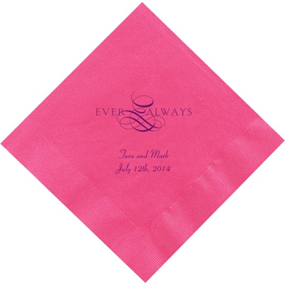 Hot Pink Dinner Napkins Light Sage Dinner Napkins