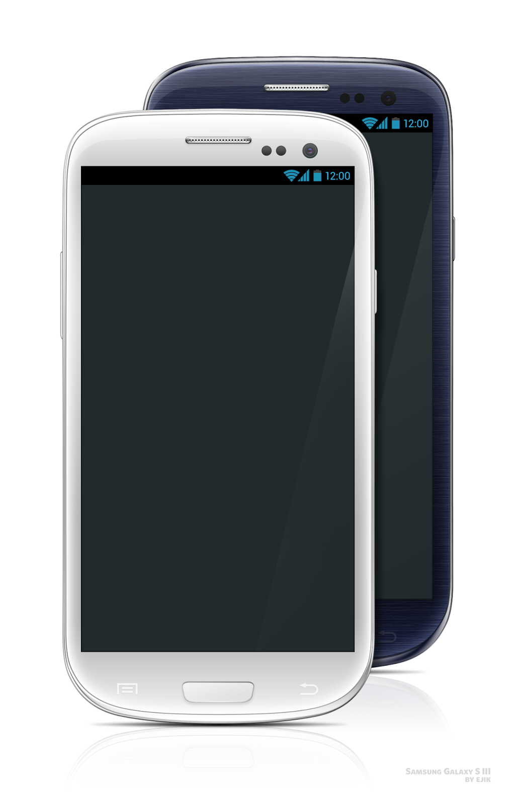 Galaxy S3 White & Black PSD Template