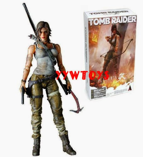 "Tomb Raider Lara Croft Play Arts Kai Square Enix 7""action figure NEW IN BOX"