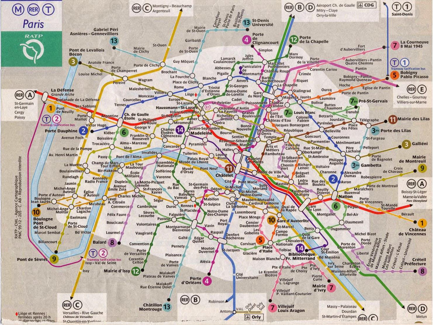 Transporte Publico Paris Mapa - Paris mapa
