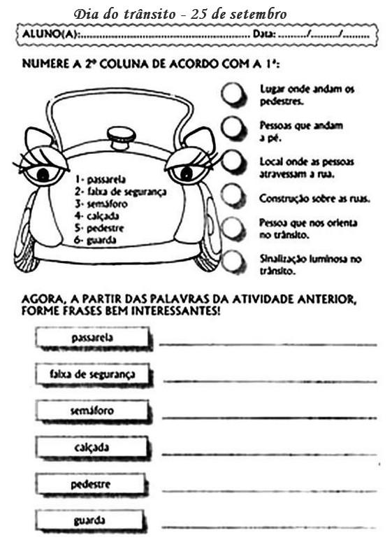 DIA DO TRÂNSITO - 35 ATIVIDADES E DESENHOS COLORIR PINTAR IMPRIMIR