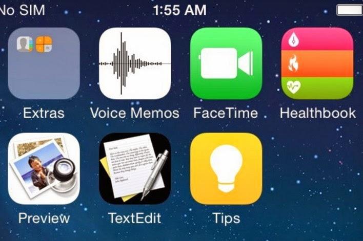 Gambar bocoran iOS 8