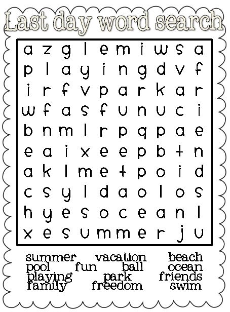 grab a last day of school word search over at my blog