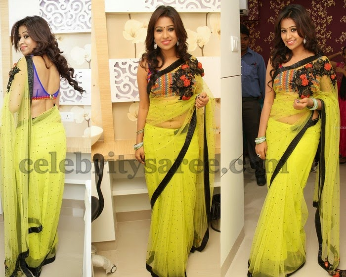 Manali Rathod Net Saree