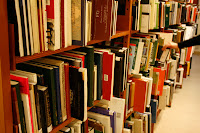Books on shelves county library Berzsenyi Dániel