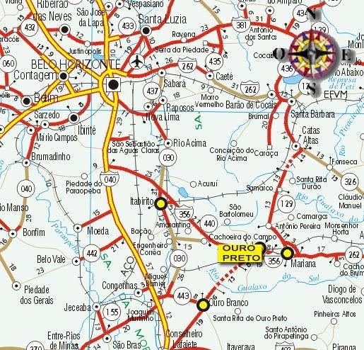 Mapas de Ouro Preto  MG  MapasBlog