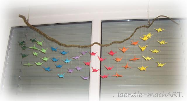Origami, Korkenzieherweide, Dekoration, DIY, selber machen