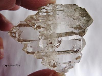 quartz à âme du Mont-Blanc, Aiguille du Goûter, faden quartz