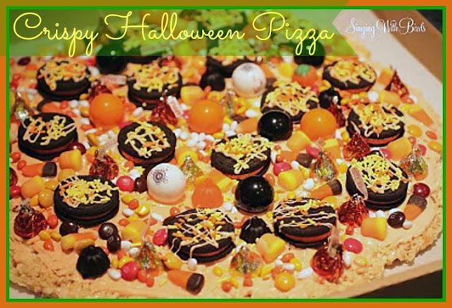 Krispy Halloween Pizza | cheerykitchen.com