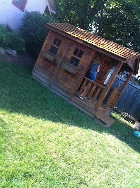 shed turned into a play house.