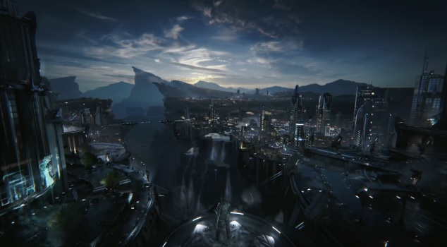 "Image of protagonist in Unreal Engine 4 ""Infiltrator"" tech demo"