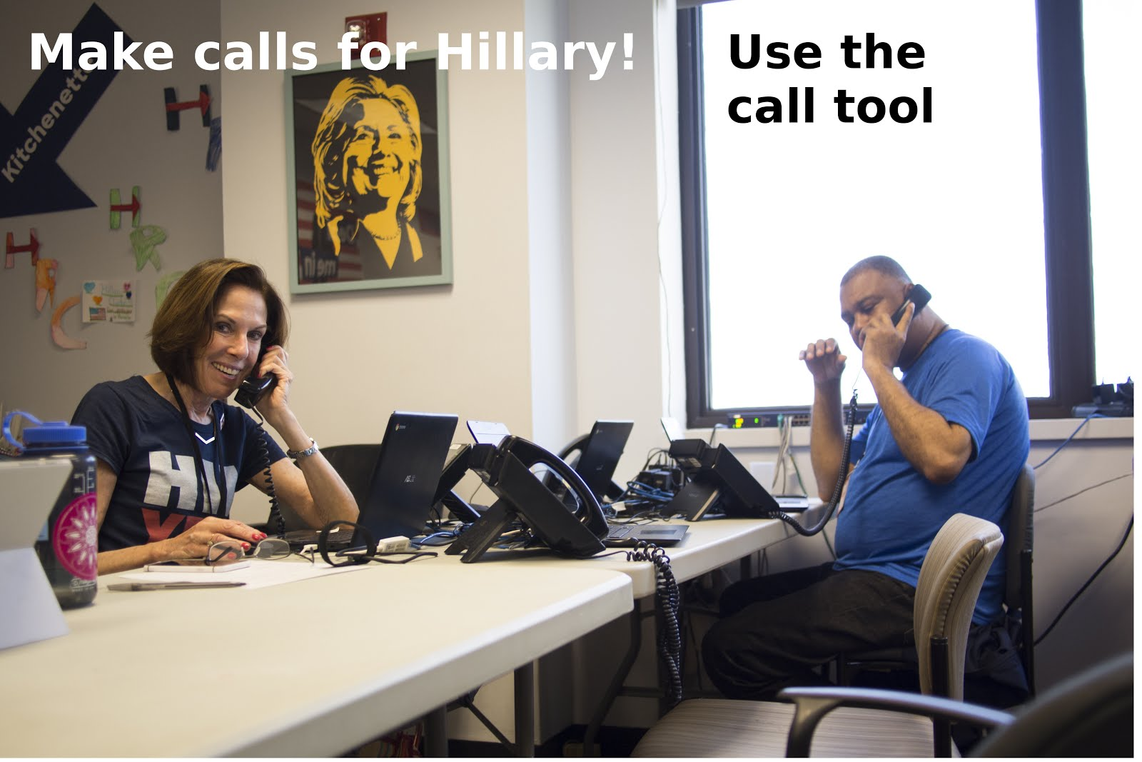 Phone bank for Hillary!