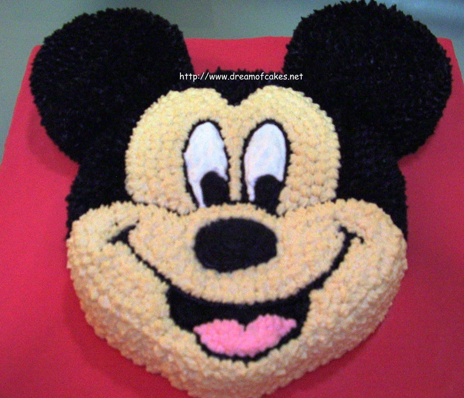 Торт в виде микки мауса своими руками